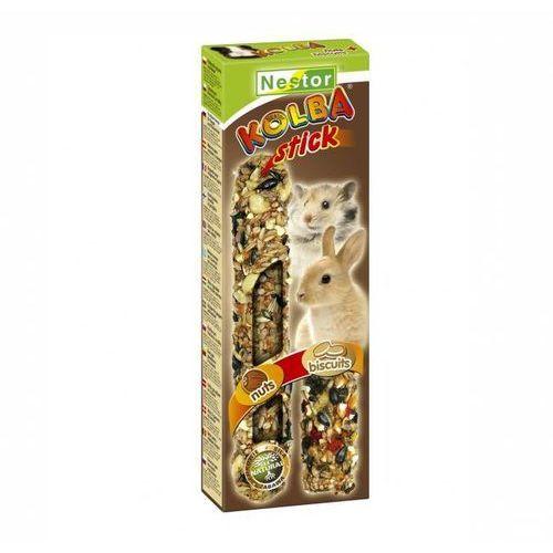 NESTOR Kolba 2 w 1 dla gryzoni i królików - biszkoptowa i orzechowa
