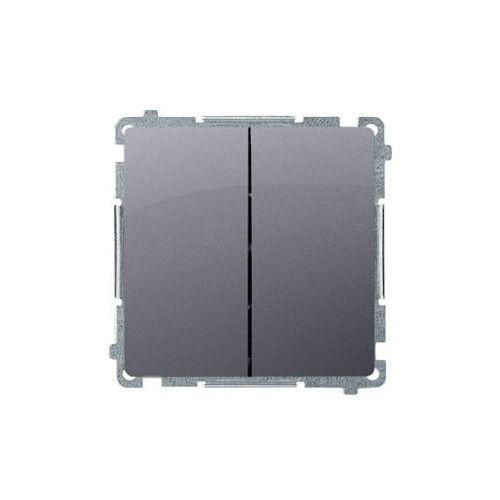 Kontakt simon Simon basic przycisk podwójny zwierny, dwuobwodowy: 2 wejścia, 2 wyjścia (moduł) 16ax, 250v~, szybkozłącza; srebrny mat bmp2.01/43 wmul-0p0xx2-4011 (5902787837983)