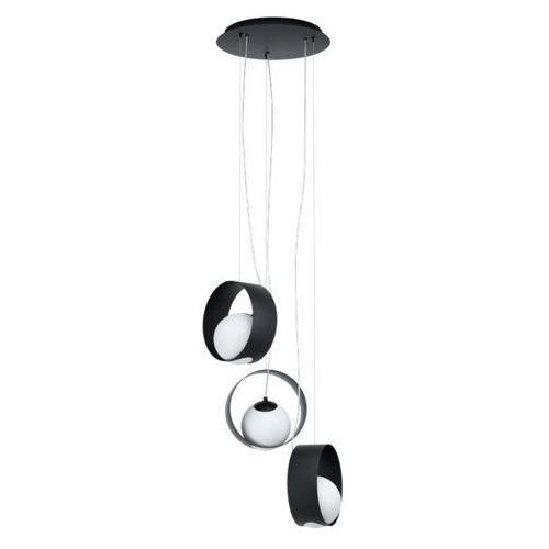 Eglo Camargo 98441 lampa wisząca zwis oprawa 3x40W E14 czarna/ biała, 98441