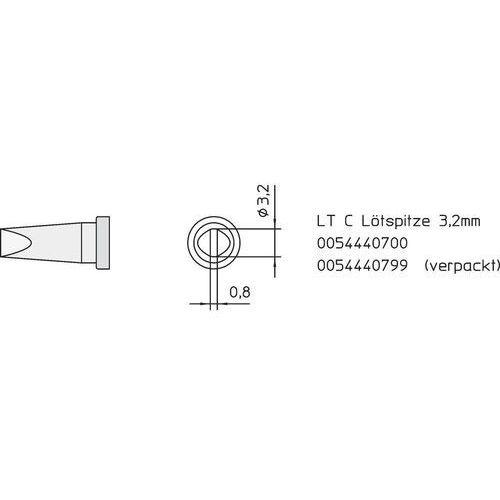 Weller Grot lutowniczy  lt-c, t0054440799 kształt dłuta, prosty, 3.2 mm, 1 szt. (4003019002993)