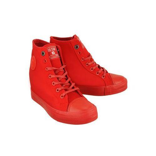 BIG STAR AA274A088 czerwony, trampki, sneakersy damskie - Czerwony, kolor czerwony
