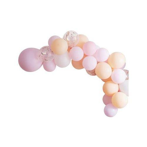 Zestaw balonów do girlandy balonowej różowo-brzoskwinowy - 60 szt. marki Ginger ray