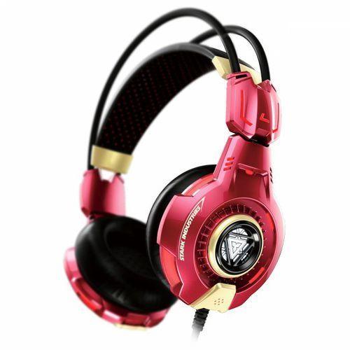 E-BLUE Iron Man Gaming EHS903REAA czerwone słuchawki