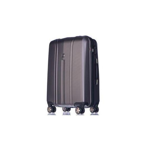 PUCCINI walizka średnia z kolekcji PC018 TORONTO twarda 4 koła materiał policarbon zamek szyfrowy TSA