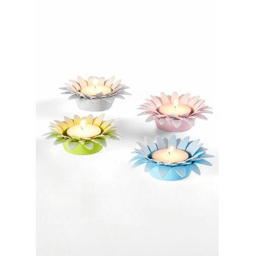 Świeczniki na świece podgrzewacze kwiaty (4 części) kolorowy marki Bonprix