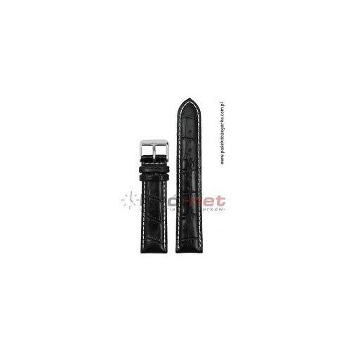 Pasek PA019/22 - czarny, przeszywany, PA019 /22