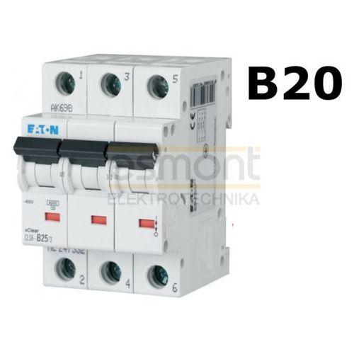 Eaton Wyłącznik nadprądowy 3P B20A CLS6-B20/3 (4094), EATON