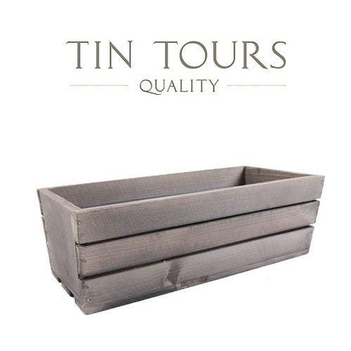Tin tours sp.z o.o. Szara skrzynka drewniana 50x18x15h cm