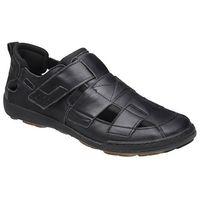Półbuty sandały 1-4213-253 czarne - czarny, Kacper