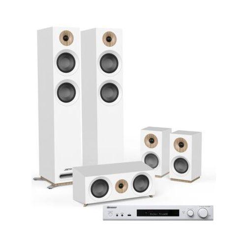 Kino domowe PIONEER VSX-S520D-W + JAMO S 807 HCS Biały, VSX520D-W/S-807HCS