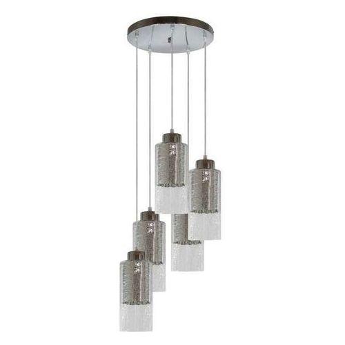 Lampa wisząca zwis żyrandol Candellux Libano okrągły 5x60W E27 srebrna 35-51813, 35-51813
