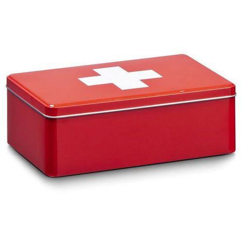Metalowa apteczka, pudełko medyczne, 20x13x7 cm, ZELLER, B00CFICB5W