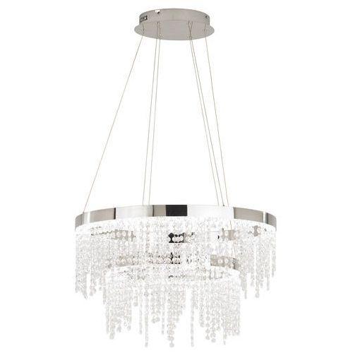 Lampa wisząca Eglo Antelao 39281 kryształowa zwis oprawa 46W LED chrom/kryształ, 39281
