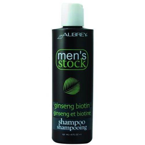 Men's stock krok 1 szampon do włosów z żeń-szeniem i biotyną dla mężczyzn 237ml marki Aubrey