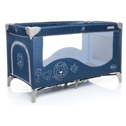 łóżeczko turystyczne jednopoziomowe royal niebieskie marki 4baby