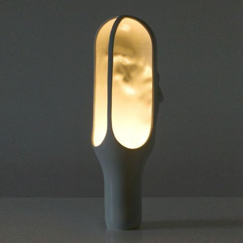 THE CAVE-Lampa stojąca Ceramika Wys.50cm, BGR 04 grey