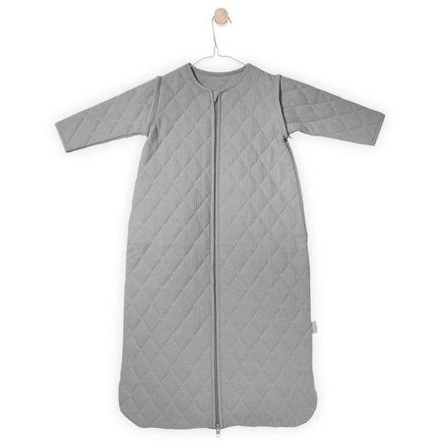 Jollein - śpiworek do spania z rękawkami, mini waffle szary, 0-6m-cy, 70 cm (8717329325814)