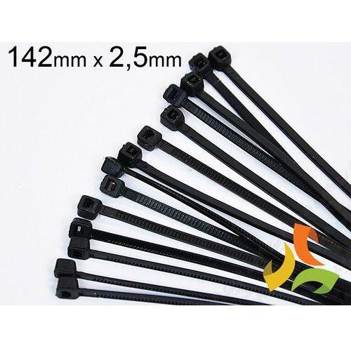 Haupa Opaska kablowa czarna (100szt) 142x2,5mm (4011923099107)