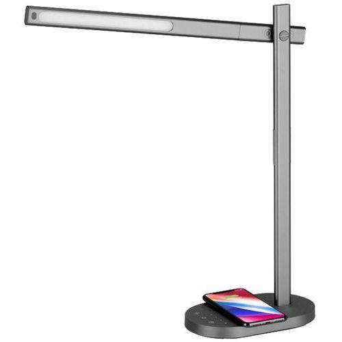 Lampa LED na biurko Momax Q.Led Desk z ładowarką Qi do iOS i Android 10W (szary) (4894222053038)