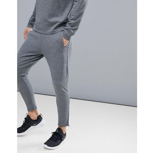 Asos 4505 super skinny training joggers with zip cuff - grey