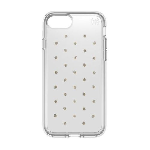 Speck Presidio Clear with Print - Etui iPhone 7 (Etcheddot Silver/Clear), kolor szary