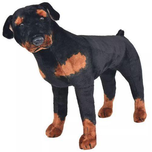 vidaXL Pluszowy rottweiler, stojący, czarno-brązowy, XXL (8718475565734)