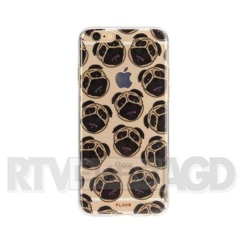 Etui iplate pugs do apple iphone 6/6s/7/8 wielokolorowy (26547) marki Flavr