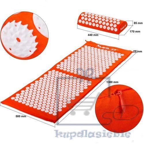 Mata akupresurowa z poduszką MOVIT 130 x 50 cm - pomarańczowa