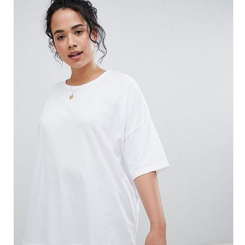 Asos curve Asos design curve super oversized t-shirt with drop shoulder in white - white