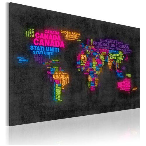 Obraz - Mapa świata - nazwy państw w języku włoskim bogata chata