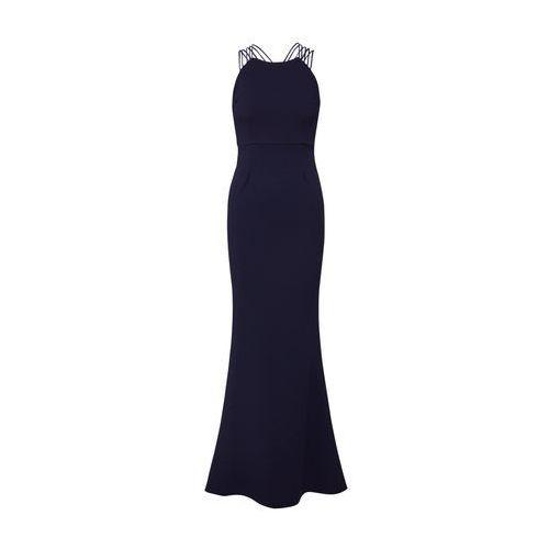 suknia wieczorowa navy marki Missguided