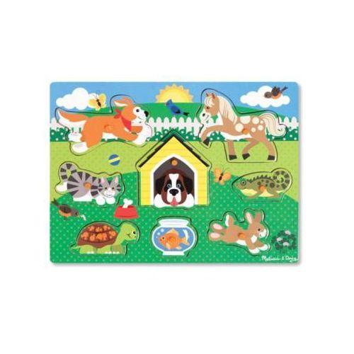 Puzzle drewniane MELISSA & DOUG Zwierzęta Pupile 19053