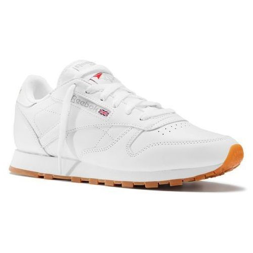 Buty classic leather - 49803 - intense white/gum marki Reebok
