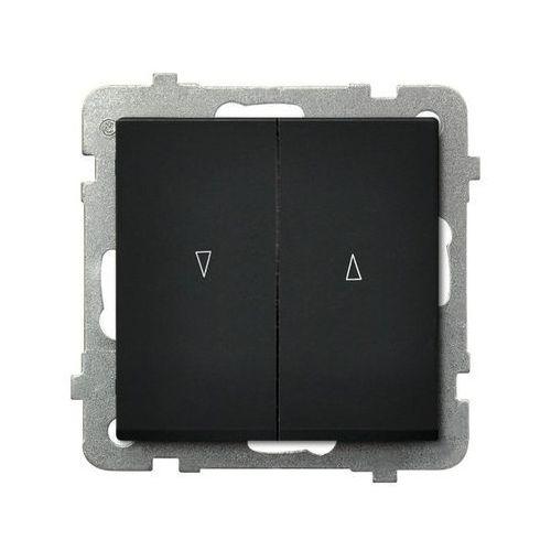 Łącznik żaluzjowy SONATA Ospel 10AX 2200W czarny metalik ŁP-7R/m/33