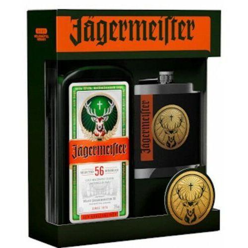 Mast-jägermeister ag Likier jagermeister 0,7l + piersiówka (5900471086747)