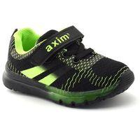 Buty sportowe dla dzieci Axim 1398 Czarny - Zielony   Czarny