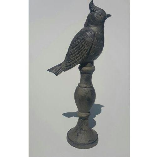 Ptaszek żeliwny ozdoba ogrodowa 36 cm