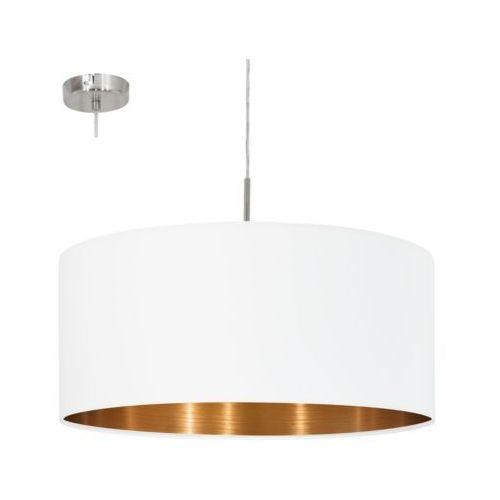 LAMPA wisząca PASTERI 95045 Eglo abażurowa OPRAWA zwis okrągły biały, 95045
