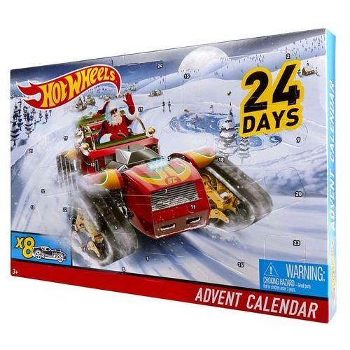 Hot wheels kalendarz adwentowy z 8 ozdobnymi samochodzikami, dxh60 (0887961397307)