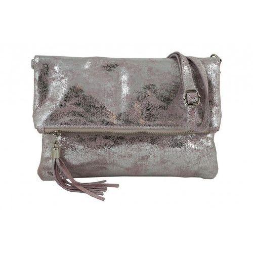Barberini's Modne torebki listonoszki ze skóry metalizowanej - - różowy pudrowy