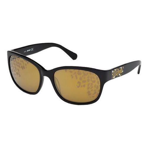 Okulary Słoneczne Just Cavalli JC 496S 01G, kolor żółty