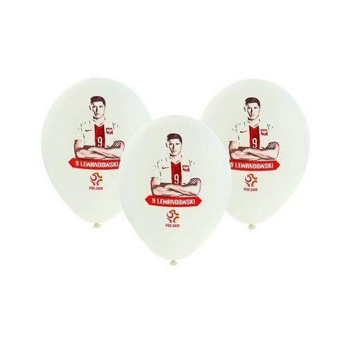 Balony białe z nadrukiem licenc.PZPN 5szt (5901238691440)