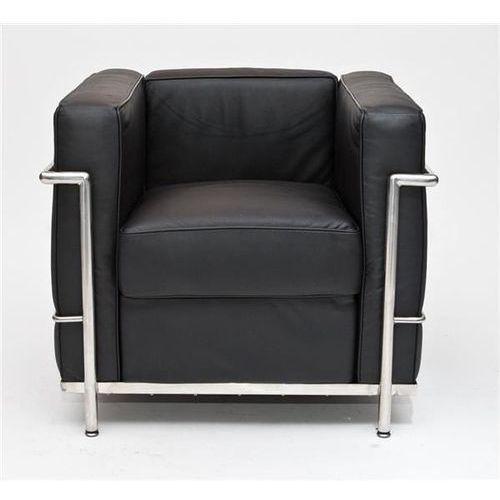 Fotel Kubik czarna skóra TP - czarny, 24983