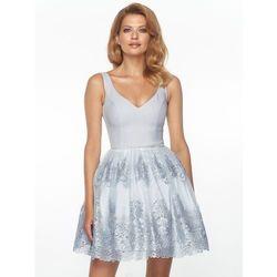 Sukienka Florentina w kolorze srebrnym, kolor szary