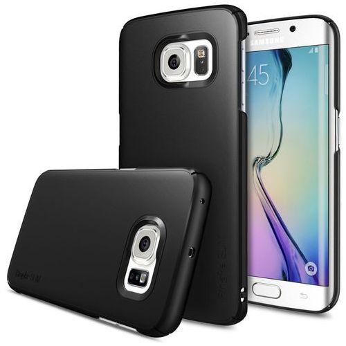 Etui Ringke Slim Case do Samsung Galaxy S6 Edge SF Czarne, kolor czarny