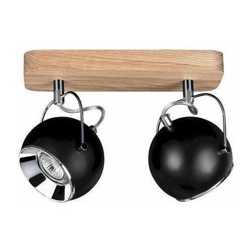 ball wood 5133274 kinkiet lampa ścienna 2x5w gu10 drewno/czarny marki Spot light