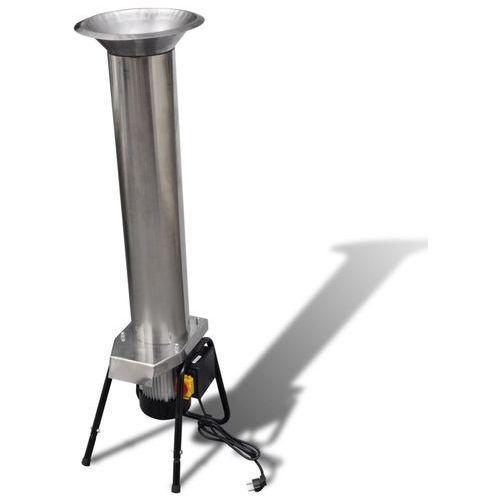 Vidaxl elektryczna prasa do owoców ze stali nierdzewnej srebrna