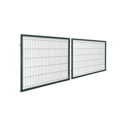 Brama dwuskrzydłowa stark 400 x 120 cm zielona marki Polbram