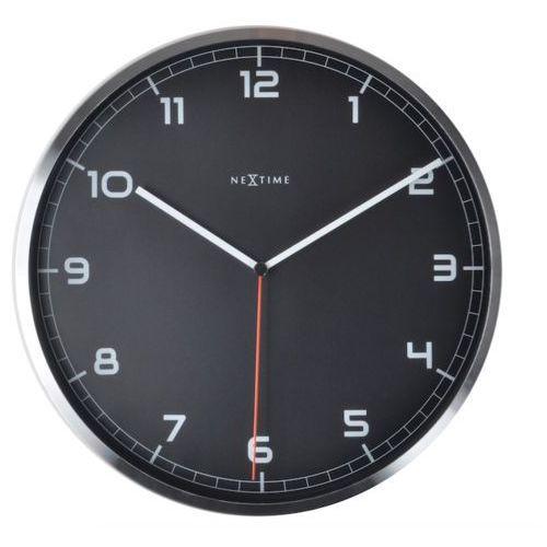 :: zegar ścienny company czarny Ø35cm - czarny marki Nextime