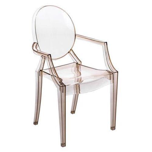 D2. Krzesło royal inspirowane louis ghost - bursztynowy ||transparentny (5902385700153)